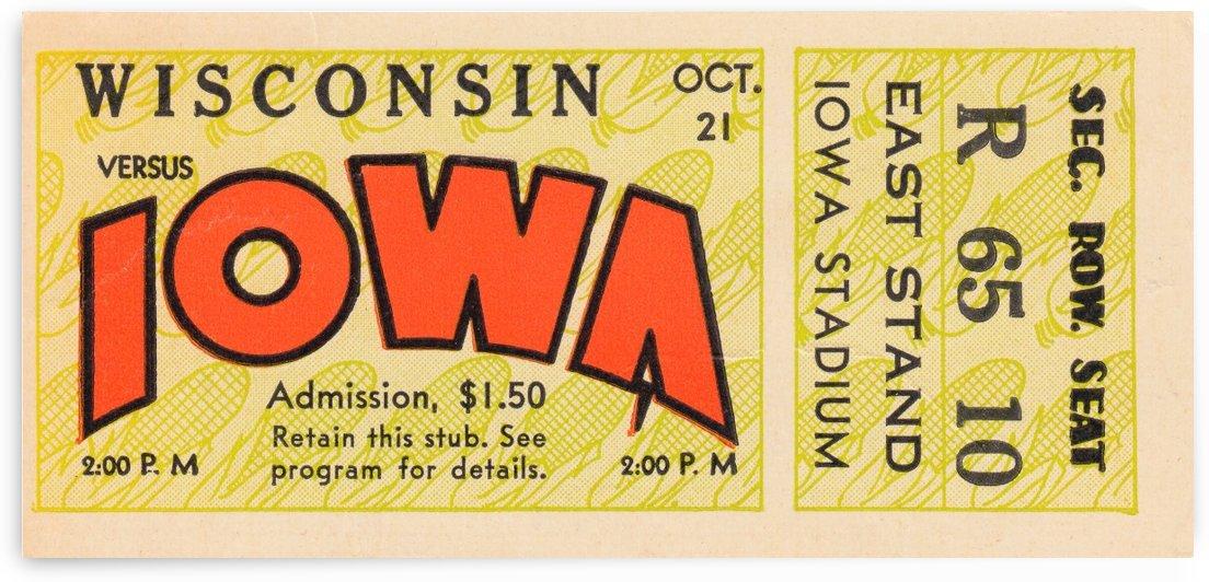1933 Wisconsin vs. Iowa by Row One Brand
