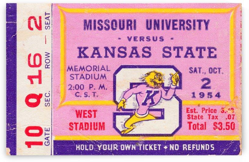 1954_College_Football_KansasStatevs.Missouri_MemorialStadium_Best_College_Gifts by Row One Brand