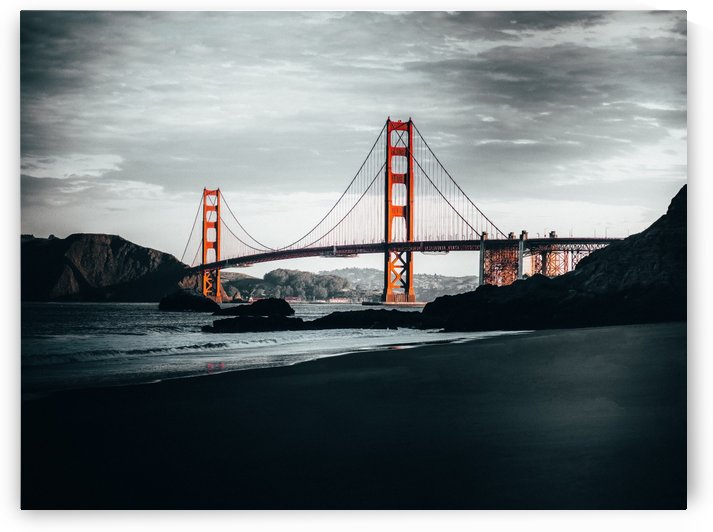 Marshalls Beach & Golden Gate Bridge San Francisco by Raquel Creative