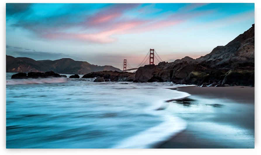 Marshalls Beach & Golden Gate Bridge San Francisco by Raquel Creative
