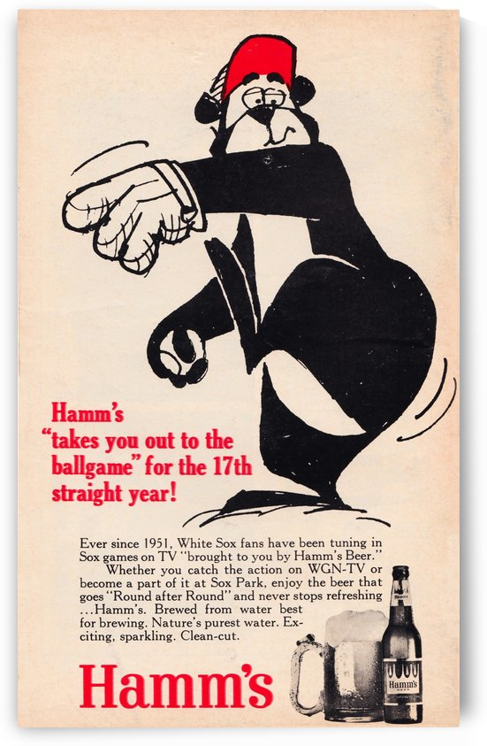 hamms beer adwgn tc chicago white sox vintage ads row one brand by Row One Brand