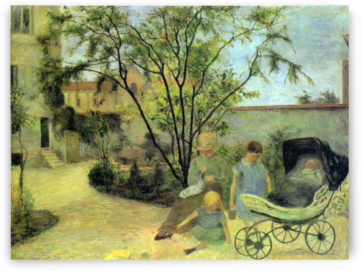 Garden in Rue Carcel by Gauguin by Gauguin