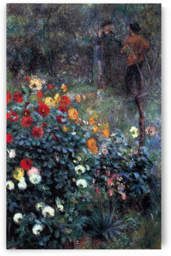 Garden in the street Cortot, Montmartre by Renoir by Renoir