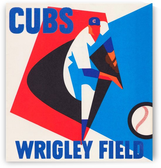 Retro_Remix_Sports_Art_Otis_Shepard_Program_Scorecard_Posters_Row_One_Chicago_Cubs by Row One Brand