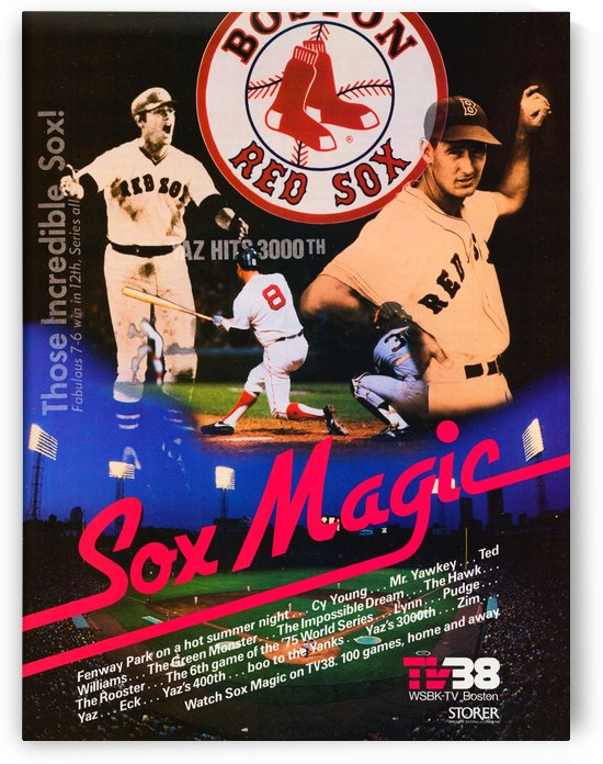 1980_Boston_Red_Sox_WSBK_Channel_38_Television_Ad_Poster_Sox_Magic by Row One Brand