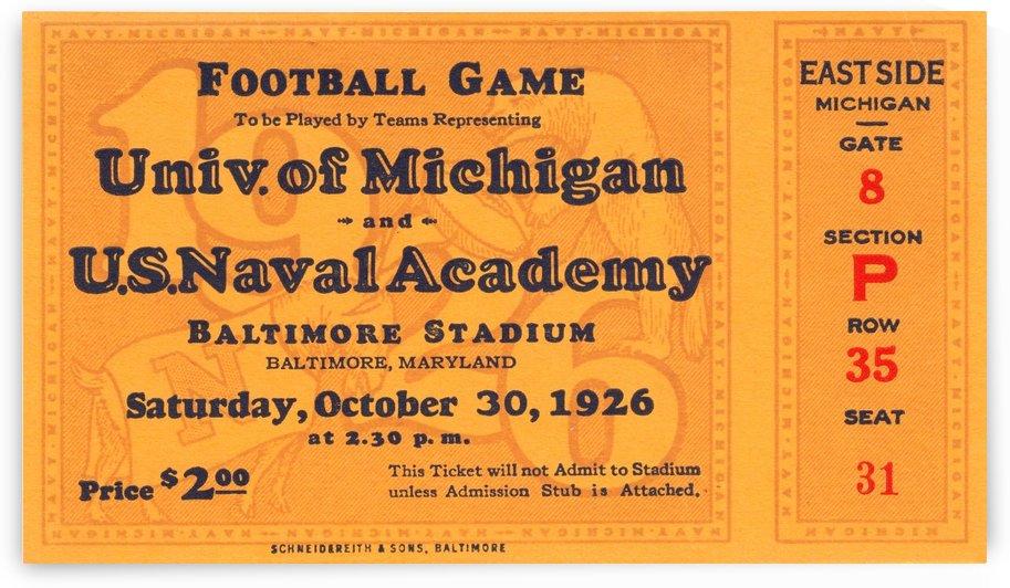 1926 Michigan vs. Navy by Row One Brand