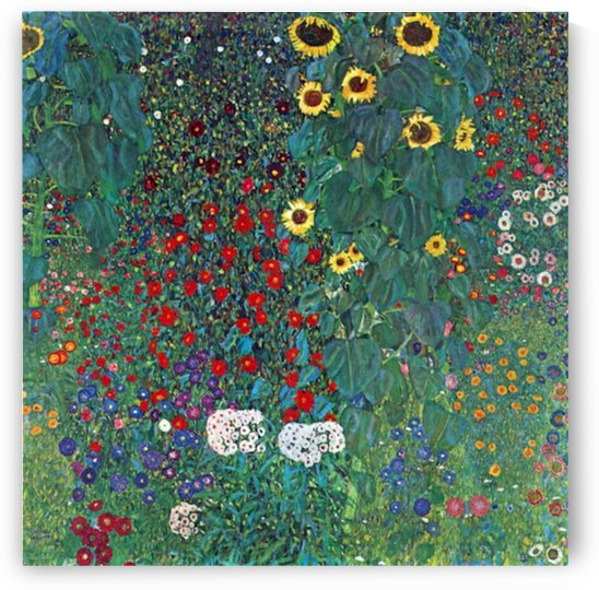 Garden with Crucifix 2 by Klimt by Klimt
