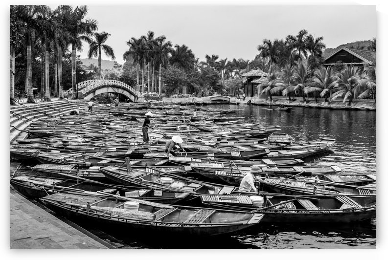 Boats in the river of Vietnam by RezieMart