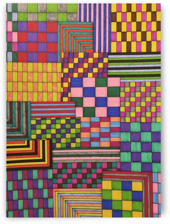 Chaos of Plaids Angles n Stripes by SarahJo Hawes
