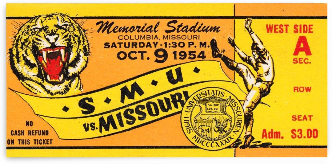 missouri tigers football ticket stub wall art ticket stub metal signs by Row One Brand
