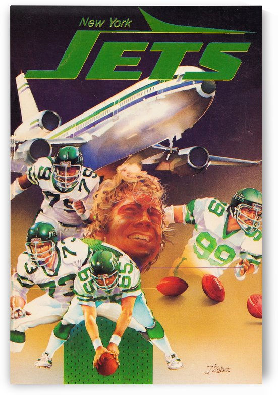 Retro New York Jets Poster by Row One Brand