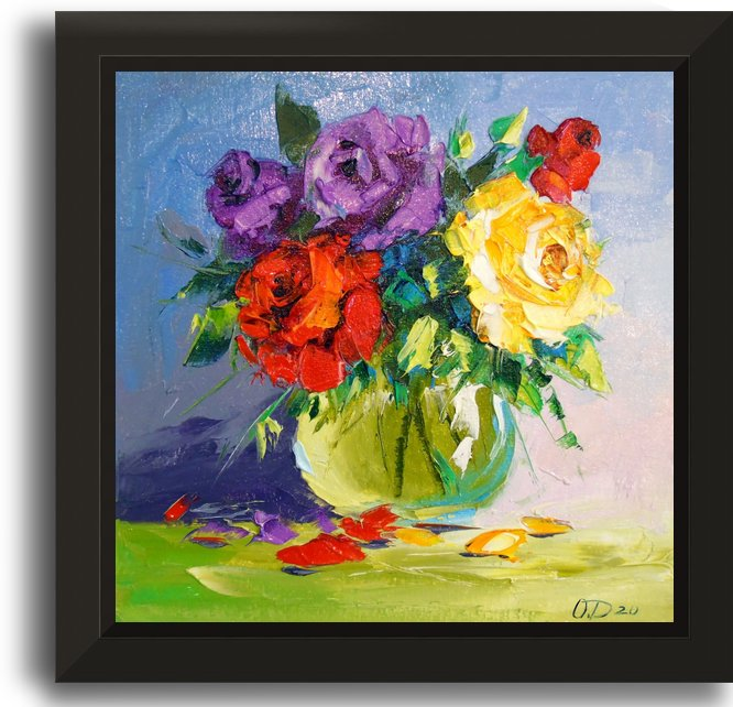 Bright bouquet of roses by Olha Darchuk