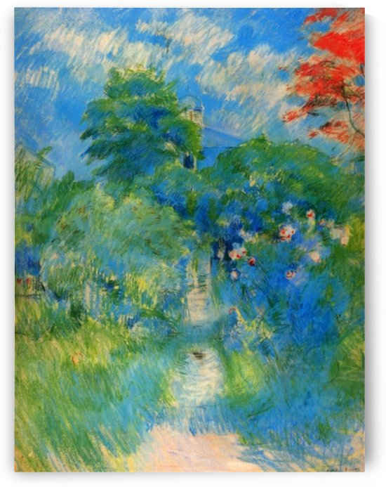 Gardenpath in Mezy by Morisot by Morisot