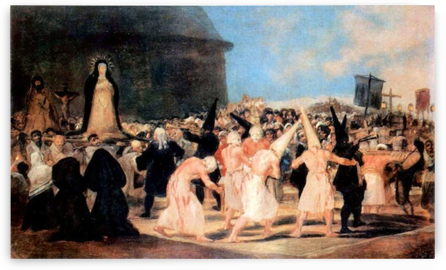 Geissler procession by Goya by Goya