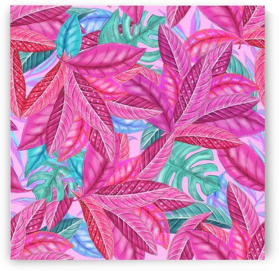 leaves tropical reason stamping by Shamudy