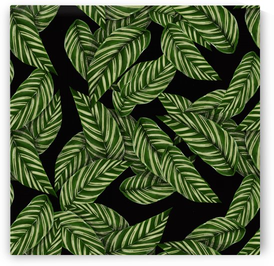 leaves pattern tropical green by Shamudy