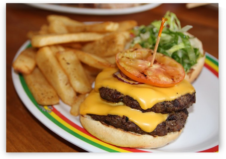 Double cheeseburger  by On da Raks