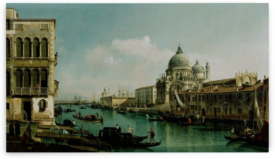 View of the Grand Canal and the Dogana by Bernardo Bellotto