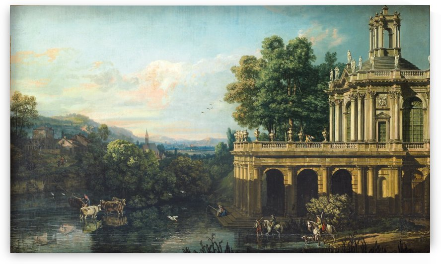Architectural Caprice with a Palace by Bernardo Bellotto