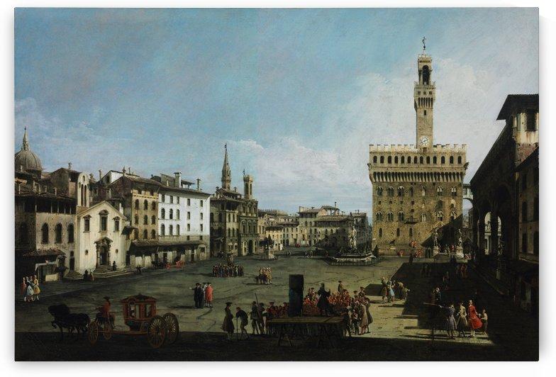 The Piazza della Signoria in Florence by Bernardo Bellotto