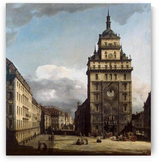 The Kreuzkirche in Dresden by Bernardo Bellotto
