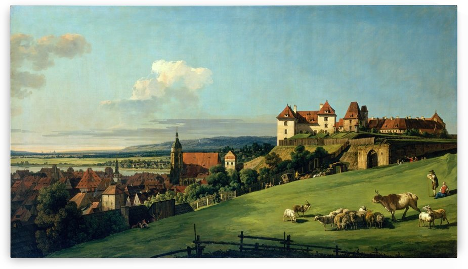 View of Pirna from the Sonnenstein Castle, c. 1750 by Bernardo Bellotto