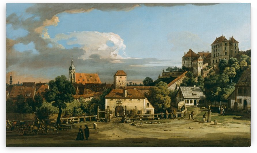 Pirna - The Obertor from the South by Bernardo Bellotto
