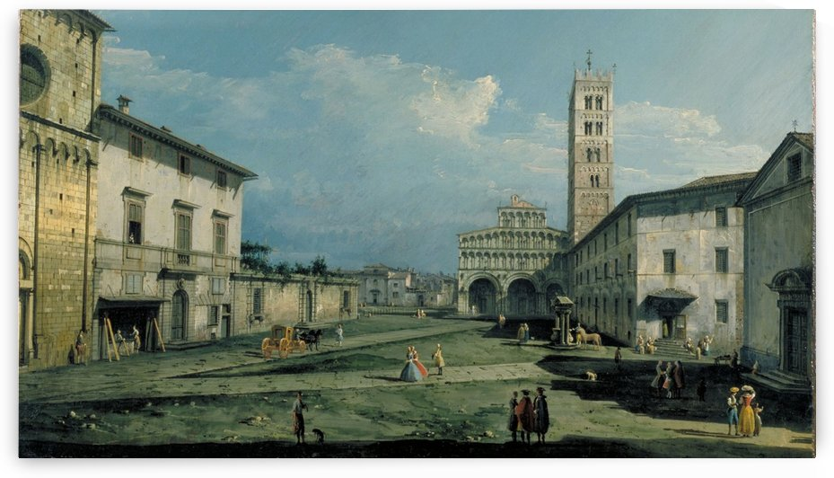 The Piazza San Martino and the Cathedral by Bernardo Bellotto