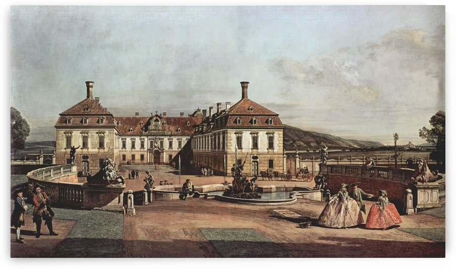 The imperial summer residence, courtyard by Bernardo Bellotto