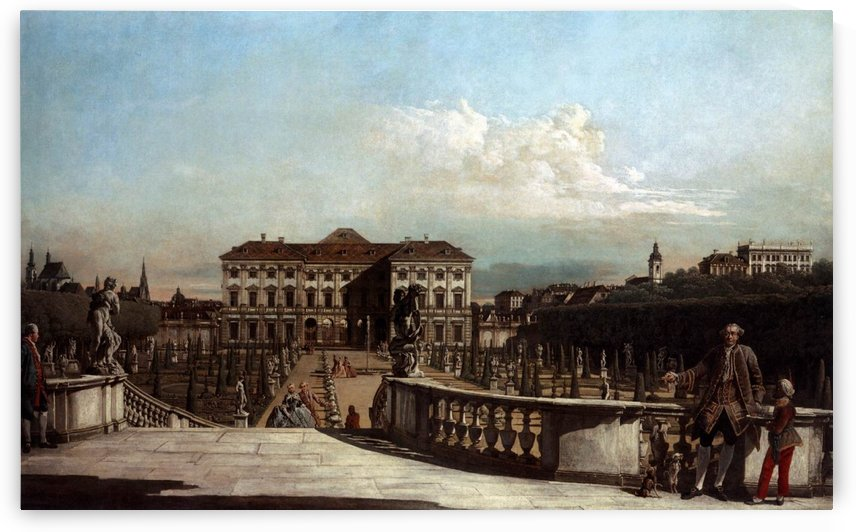 Liechtenstein Garden Palace in Vienna by Bernardo Bellotto