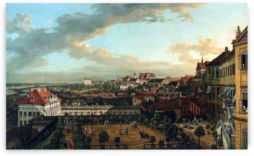 View of Warsaw from the terrace of the Royal Castle by Bernardo Bellotto