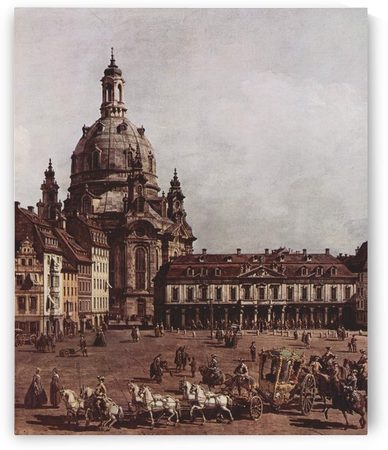 Der Neumarkt in Dresden by Bernardo Bellotto