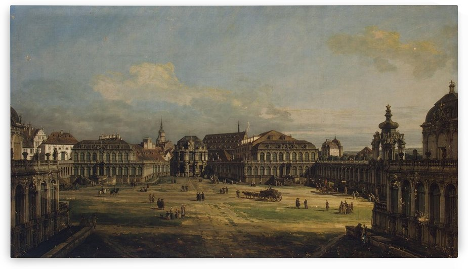 Zwinger in Dresden by Bernardo Bellotto