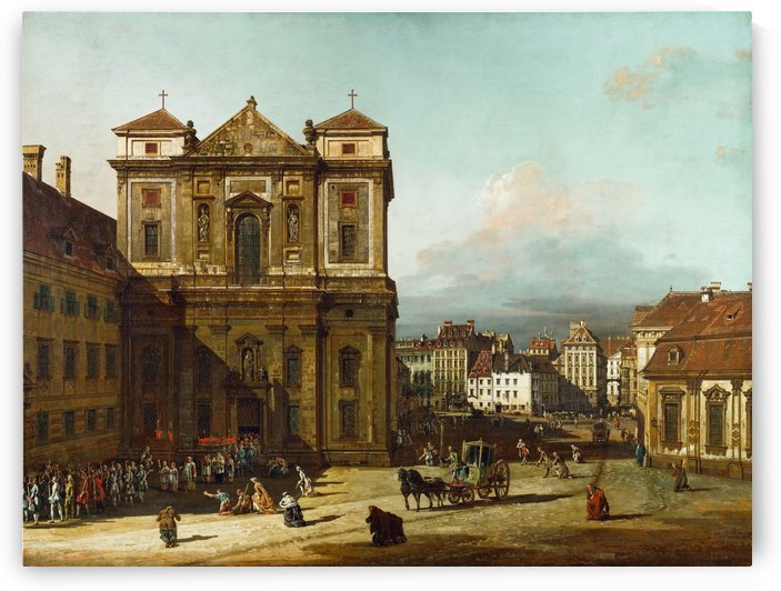 Procession in Dresden by Bernardo Bellotto