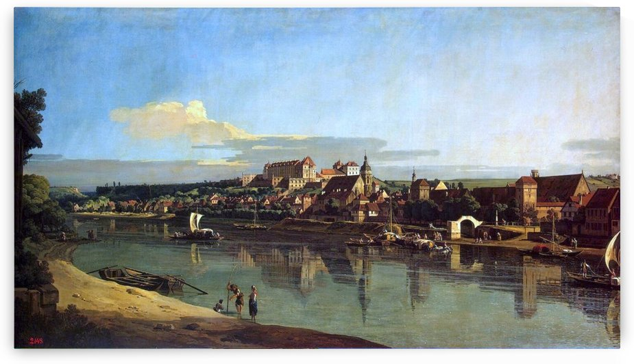 The Hermitage Museum. View of Pirna from Posta by Bernardo Bellotto