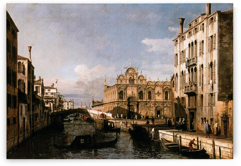 Rio dei Mendicanti with the Scuola di San Marco by Bernardo Bellotto