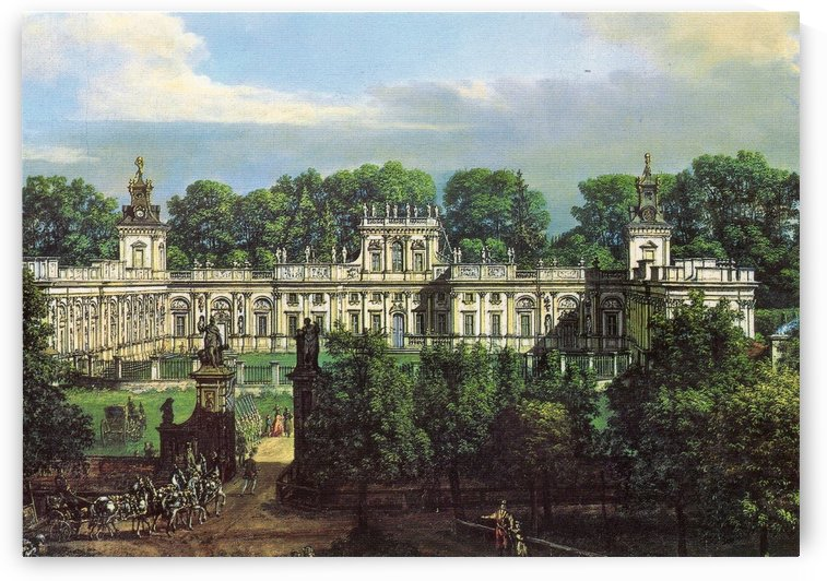 View of Palace in Warszawa by Bernardo Bellotto