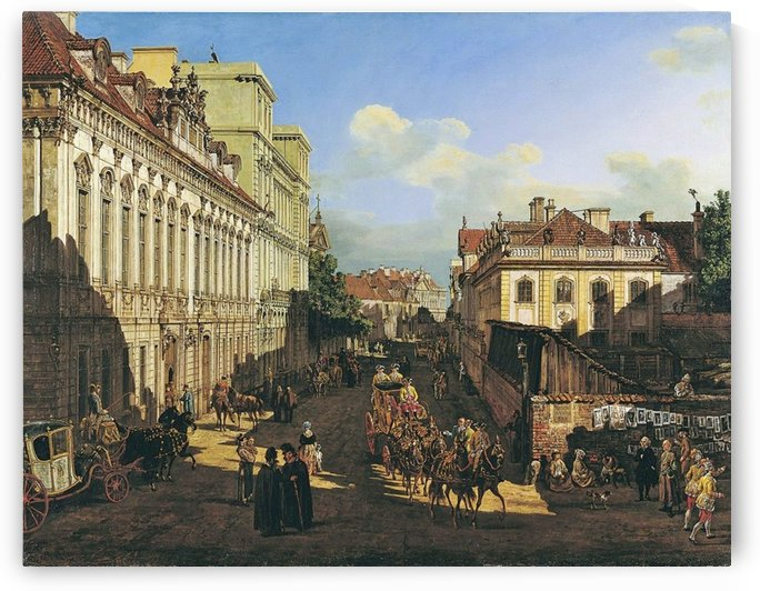 Miodowa Street in Warsaw by Bernardo Bellotto