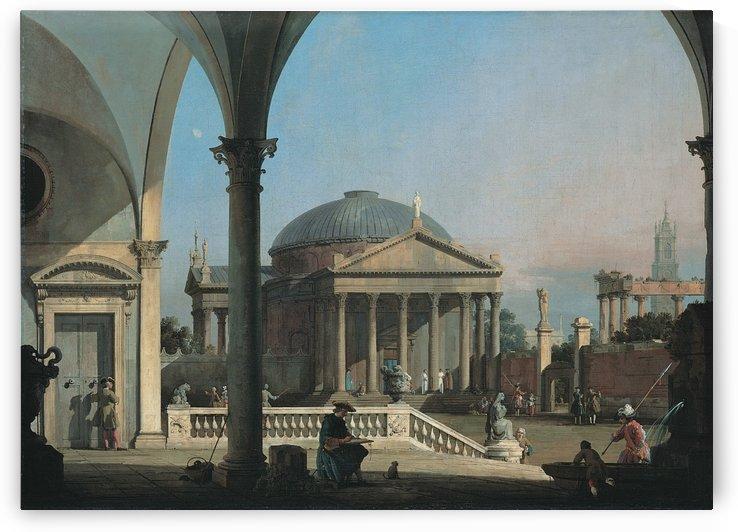 Caprice avec des ruines classiques by Bernardo Bellotto