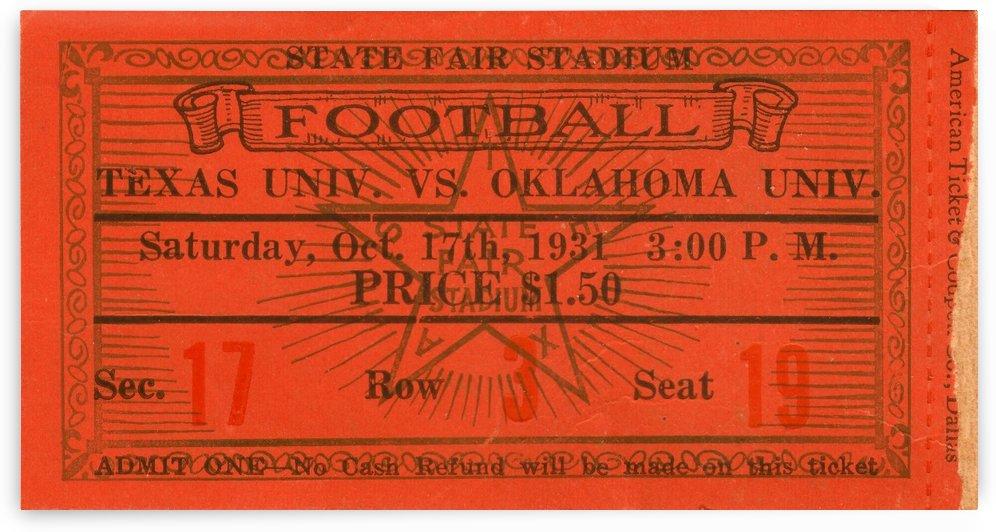 1931 Texas vs. Oklahoma by Row One Brand