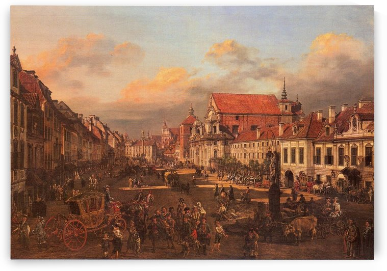 Die Altstadt wurde nach dem Krieg nach alten by Bernardo Bellotto