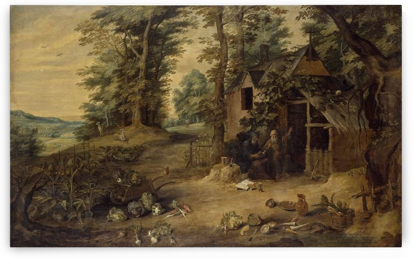 Landscape with Homestead by Cornelis Van Dalem