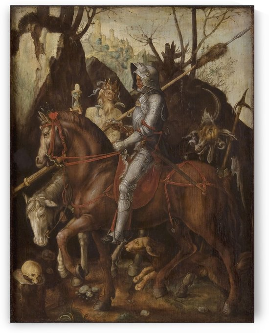 A Knight, Death, and the Devil by Cornelis Van Dalem