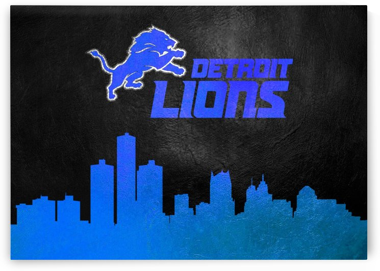 Detroit Lions Skyline by ABConcepts