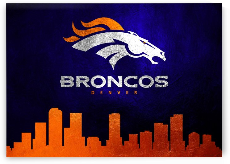 Denver Broncos Skyline by ABConcepts