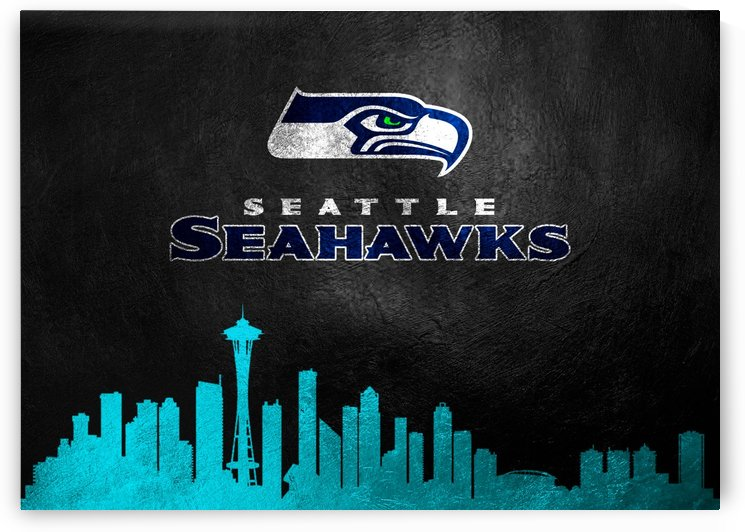 Seattle Seahawks Skyline by ABConcepts