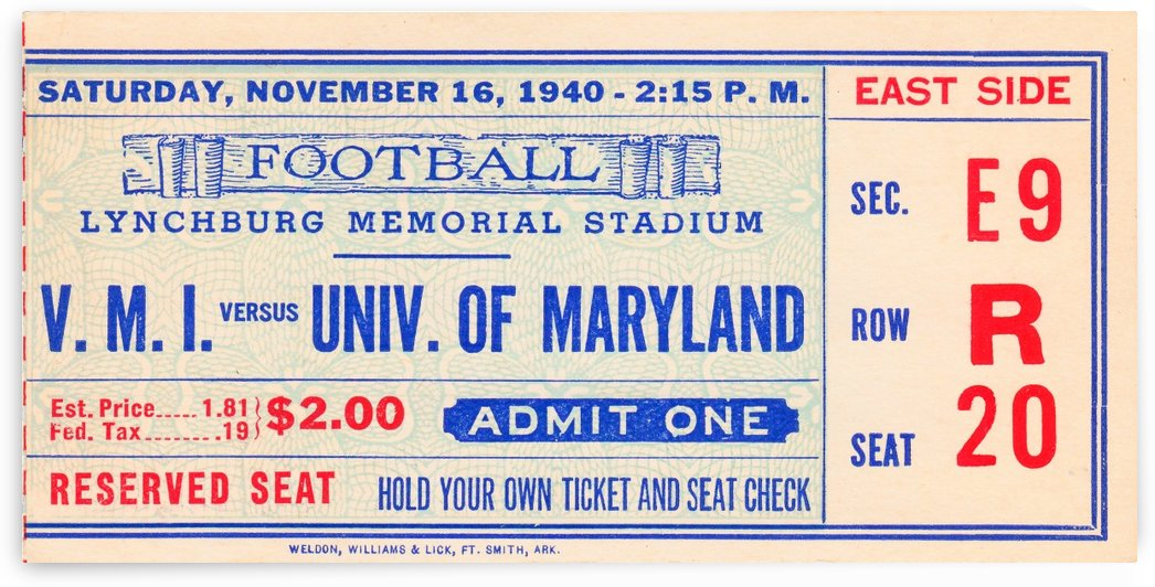 1940 Maryland vs. VMI by Row One Brand