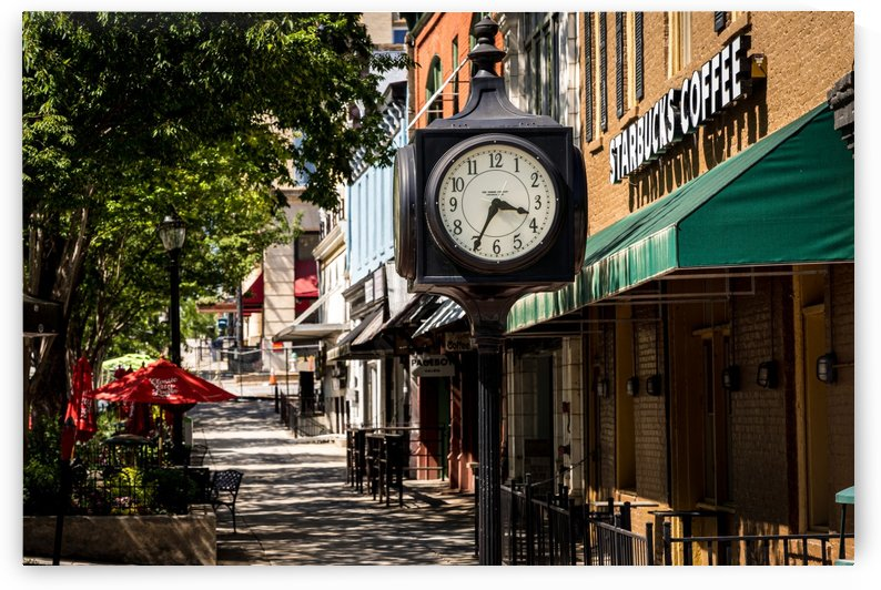 Clock in Downtown Athens GA 07104 by @ThePhotourist
