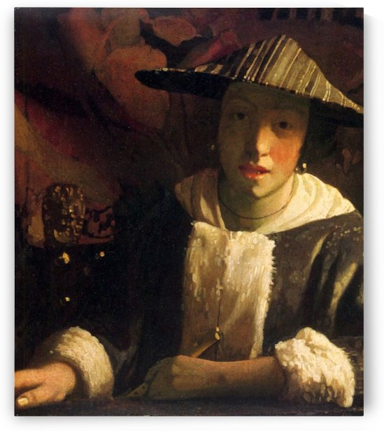 Girl with a flute by Vermeer by Vermeer
