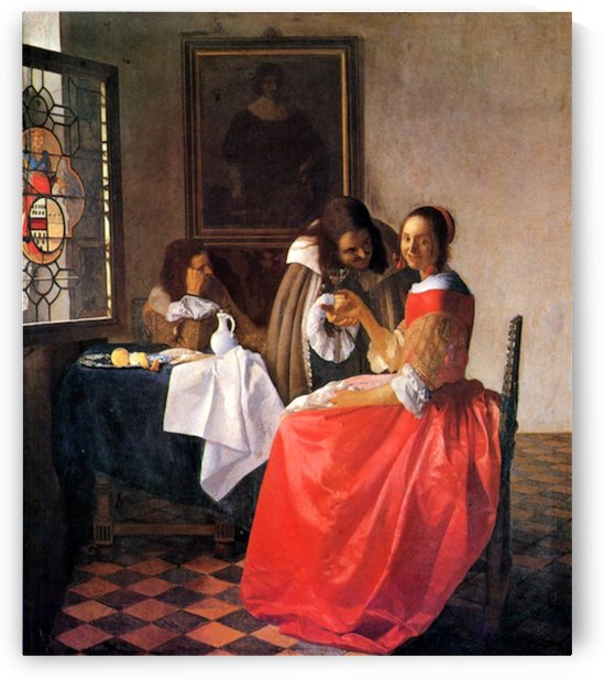 Girl with a wine glass by Vermeer by Vermeer
